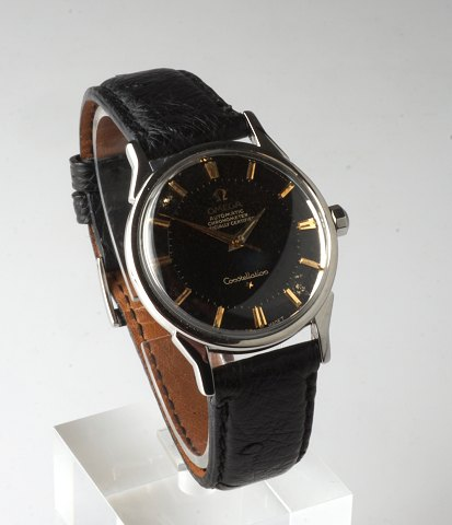 Omega Constellation Pie Pan. År 1963. Black dial. 