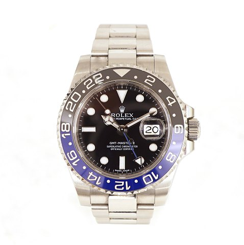 Rolex GMT Master II Batman ref. 116710BLNR. Solgt 