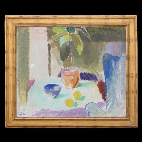 Poul S. Nielsen, 1920-98, Stillife. Oil on canvas